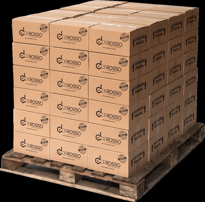 Pallets com produtos De Rosso